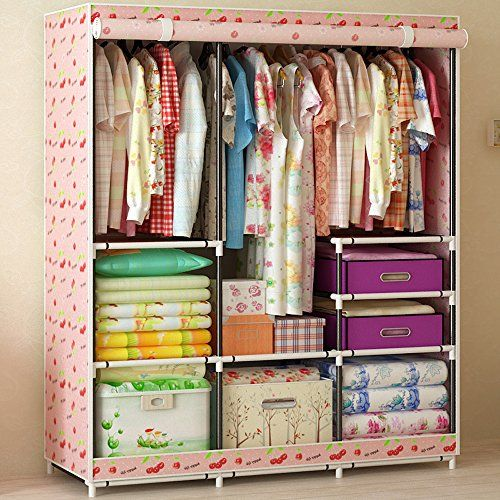 Generic Home Furniture Folding Portable Clothes Wardrobes Closet Storage Cabinets Hot