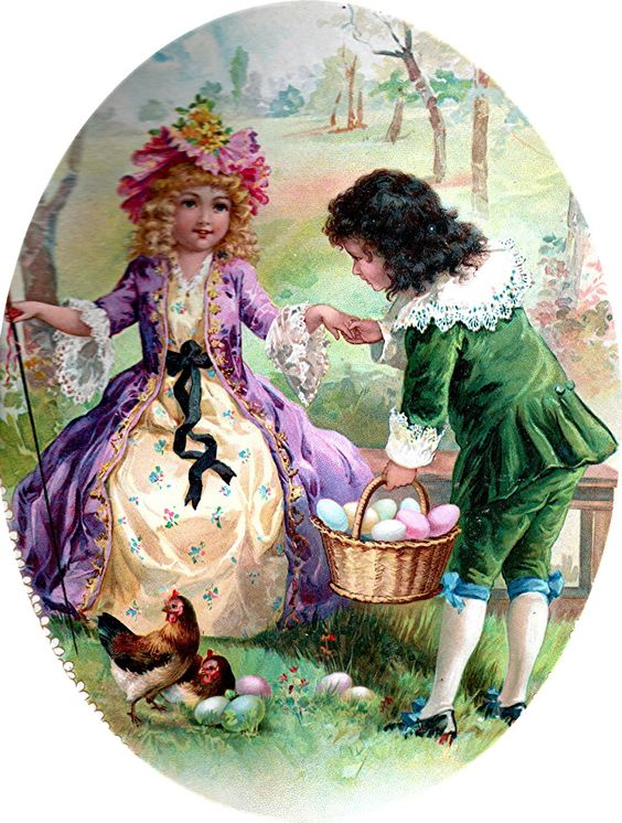 Victorian postcards | happy victorian easter