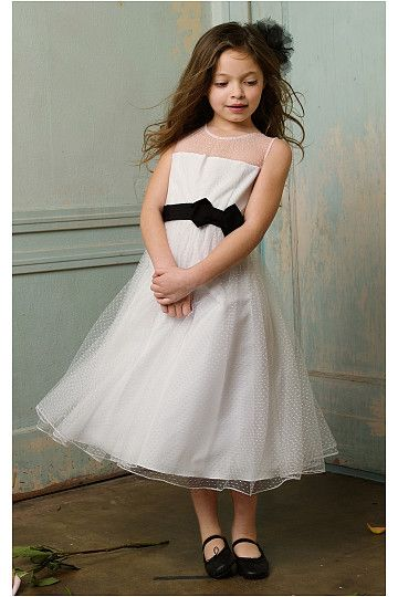 White Jewel Princess Ankle-length Flower Girl Dresses