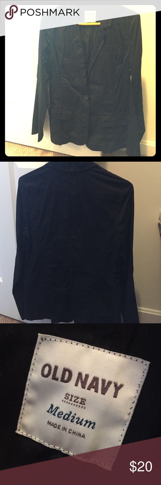 Old Navy black blazer. Thin for fall and spring. New with out tags. 100% pre shrunk cotton. Black two button blazer. Old Navy Jackets & Coats Blazers