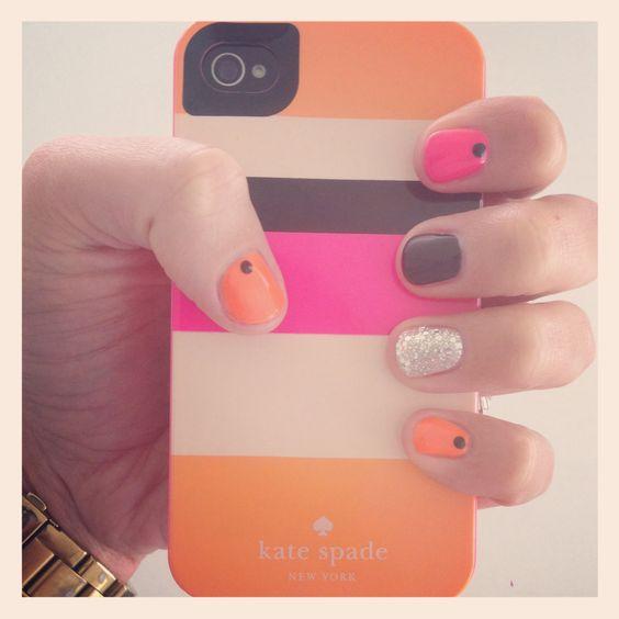 Kate spade inspired nails!! Love!