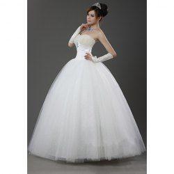 $96.13 Princess Sweetheart Neck Beading Design Ball Gown Wedding Dress For Bride  Vamos compartilhar e juntos temos chance de ganhar artigos da Sammy Dress!
