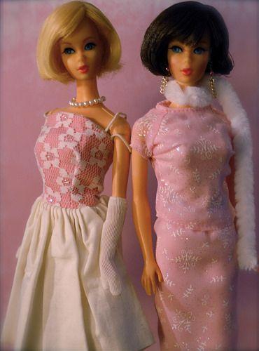 Vintage Barbie - Twist n' Turn Hair Fair Barbies - Mod Era