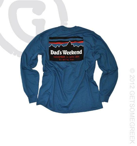 Pi beta phi custom sorority chapter order on dad 39 s weekend for Custom sorority t shirts