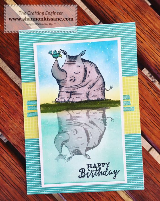 Animal Outing   Stampin Up!   Just Add Ink Challenge