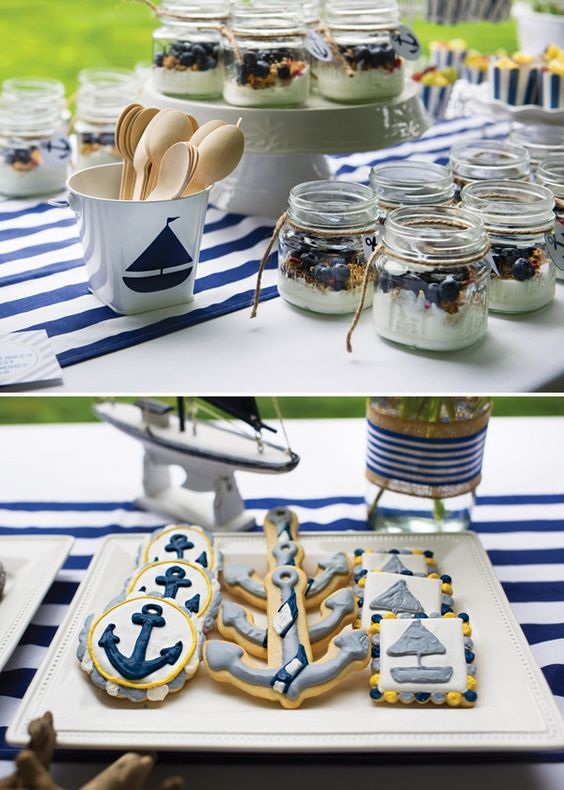 its a boy nautical baby preppy parfait showers blueberries baby
