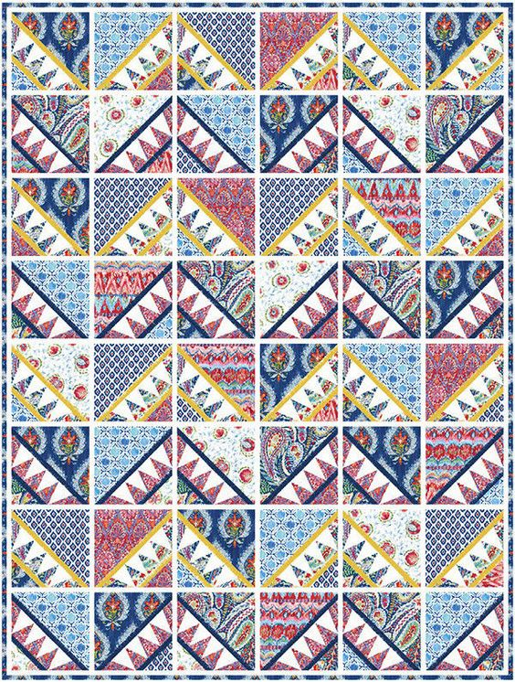 Free Sprit Dena Designs Bohemia Boho Baby Indigo Quilt Kit 51 5 By 68 6 Inches Freespiritfabrics With Images Indigo Quilt Quilt Kit Quilts