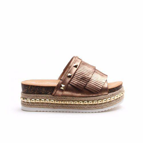 talla 40 4228f 46c66 Sandalias Zapatos Mujer Plataforma Gomon Tachas Verano 2018 ...