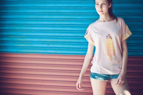 Colajet Ice Stick Vichy t-shirt illustration by Marivilla
