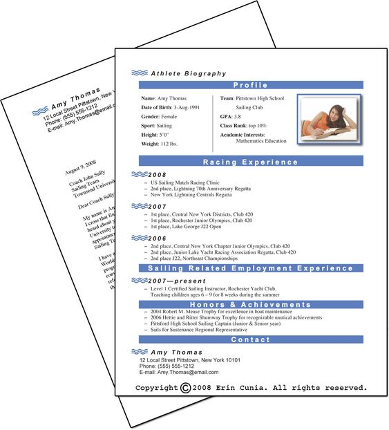 Blank Resume Template For High School Students -    www - resume templates college student