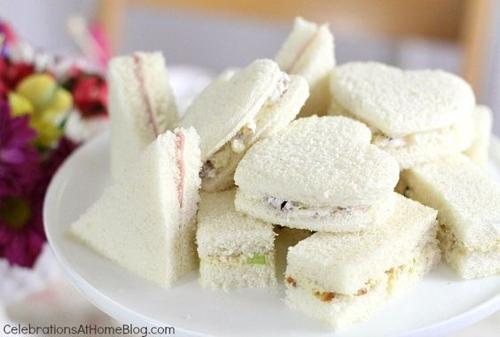 TEA PARTY TEA SANDWICHES :: 3 FILLING RECIPES — Celebrations at Home