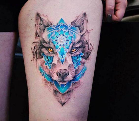 Wolfdog tattoo by Versus Ink