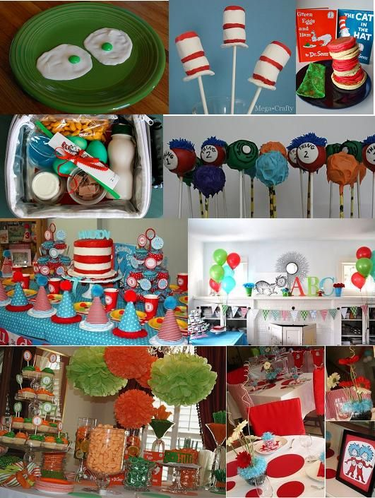 Cat In The Hat Birthday Party Food Ideas