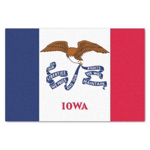Patriotic Iowa State Flag Tissue Paper Zazzle Com State Flags Iowa State Flag Design