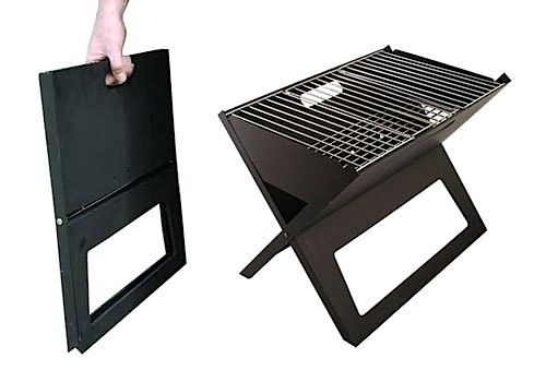 notebook foldable/portable grill: perfect for camping or the beach