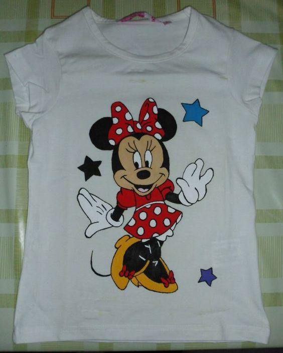 Camisetas pintadas manualidades diy pintura - Pintura para camisetas ...