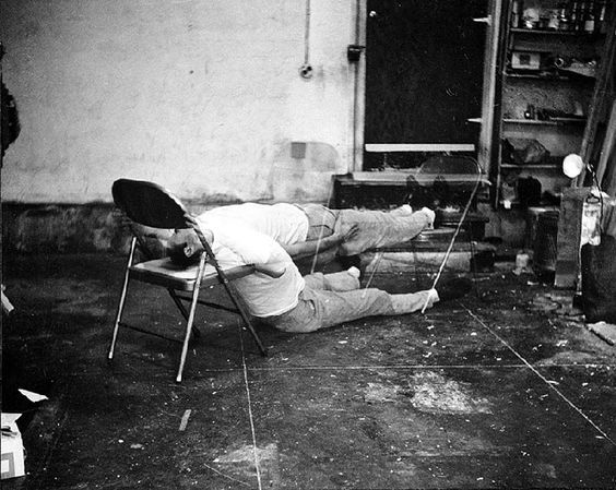 failing to levitate in my studio, 1966 • bruce nauman: Bruce Nauman, Artists Studios, Nauman Artists, 1966 Photography, Studio 1966, Photography Art, Sculptors Artists, Nauman Failing