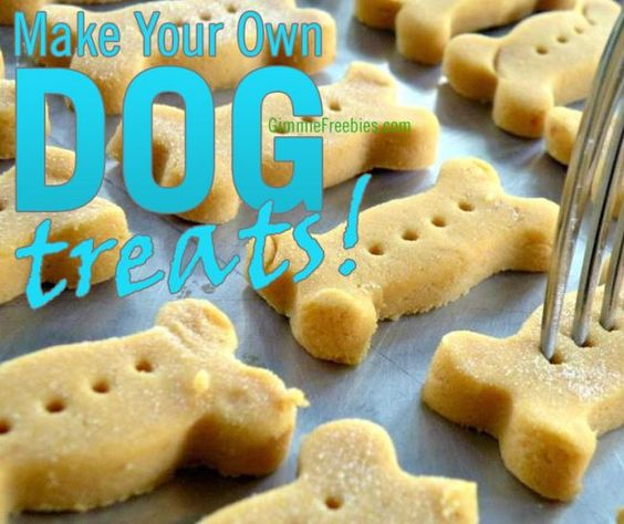 Easy to Make Dog Treats (Only 3 Cents Each!) Why spend nearly $20 for dog biscuits when you can make your own using things you have at home!