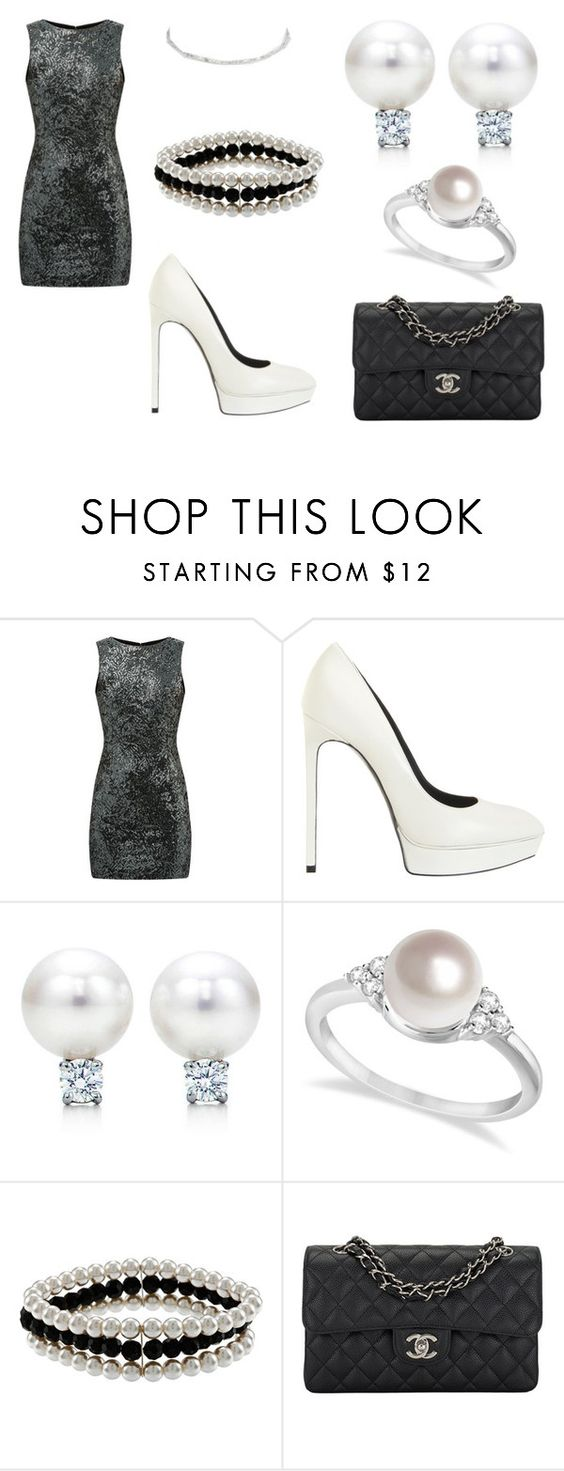 """∞"" by femalerebell ❤ liked on Polyvore featuring Yves Saint Laurent, Tiffany & Co., Allurez, Alexa Starr, Chanel and River Island"