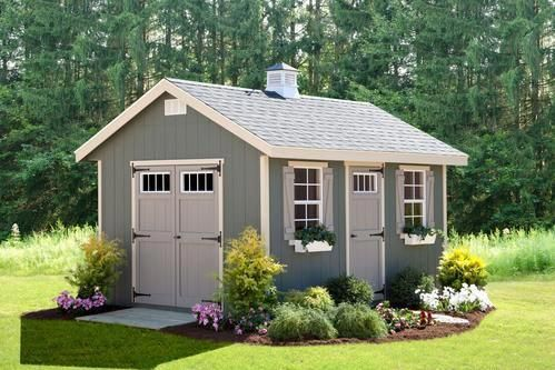 Alpine Structures Ez Fit 12 X20 Riverside Storage Shed Kit W Floor Garage Tools Storage Cabinet Organi Outdoor Garden Sheds Backyard Sheds Outdoor Sheds