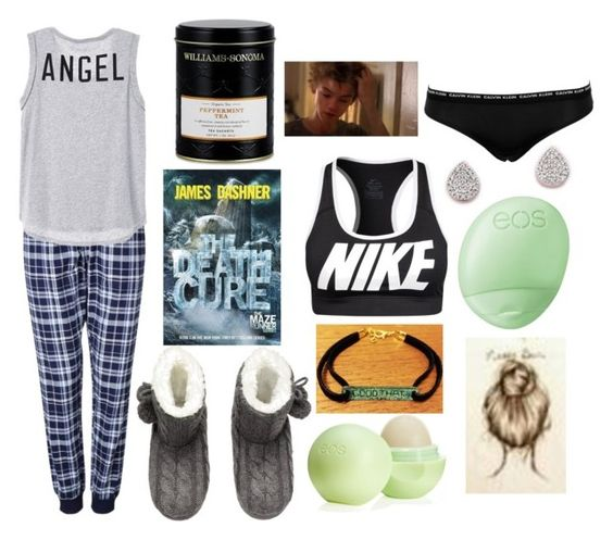 """Sick Day with Newt"" by liflike ❤ liked on Polyvore featuring H&M, Eos, Monica Vinader, NIKE, Calvin Klein Underwear, Williams-Sonoma, Paul Brodie and themazerunner"