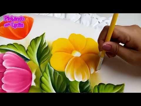Tutorial De Pintura Como Pintar Flores De Colores Youtube