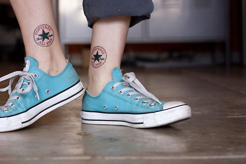 converse and tattoo <3