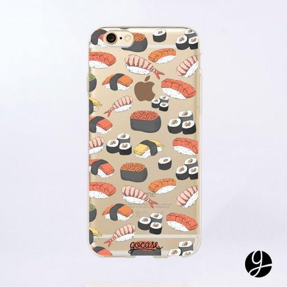 Capinha para celular Eu amo Sushi