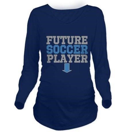FUTURE SOCCER PLAYER Long Sleeve Maternity T-Shirt by OneofaKindGiftsforYou