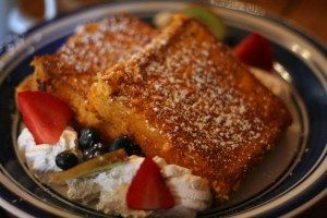Captain Crunch French toast at the Blue Moon Cafe in Baltimore, MD.