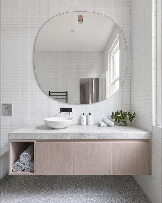 Love This Big Round Mirror Picture Pinterest Bathroom