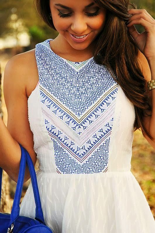 MODE THE WORLD: Hope's Blown Away White Dress: so great for summer!