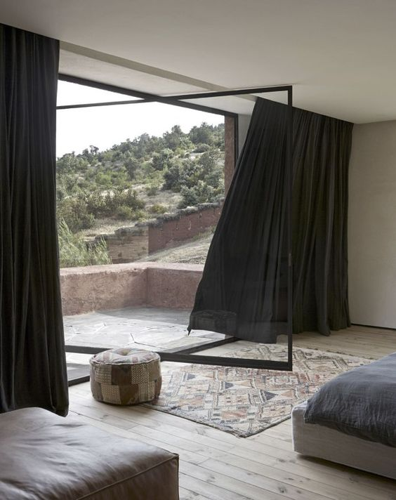 Amazing mountain lodge in the Atlas Mountains in Morocco.