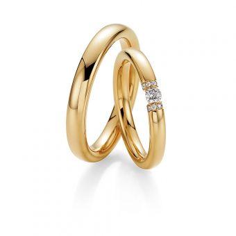 Eheringe Eternal Kiss in Gelbgold mit Diamanten