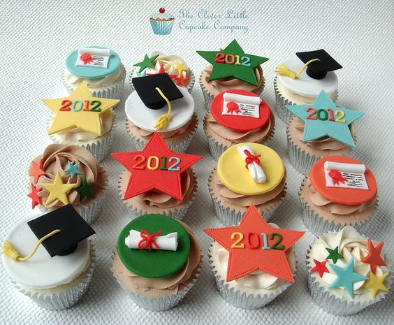 Graduation Cupcakes by The Clever Little Cupcake Company (Amanda), via Flickr