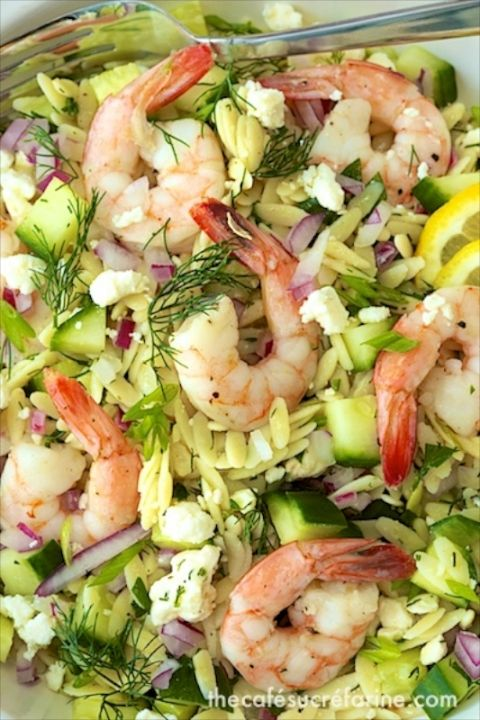 This Roasted Shrimp with Orzo is a delicious make-ahead meal. It's fresh, light and perfect anytime! The orzo pasta makes it a real comfort food!