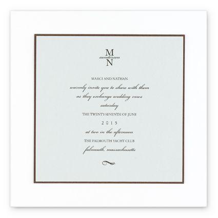 Ocean Blue Wedding Invitations Feature A Three Layered Square Invitation In Ocean Grey Blue