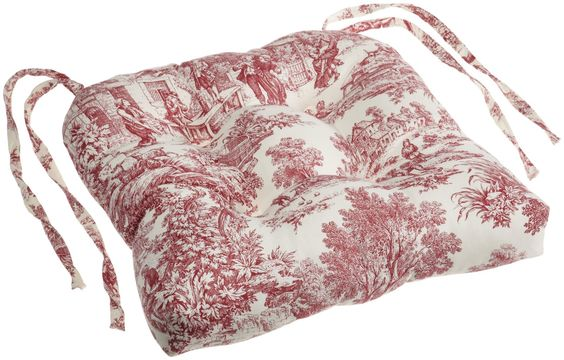 Victoria Park Toile Cushioned Chair Pad | Free Shipping