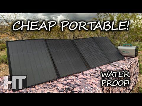 Dirt Cheap Waterproof 100w Solar Kit Beaudens 100 Watt Portable Folding Solar Panel Review Youtube In 2020 Portable Solar Panels Solar Solar Technology