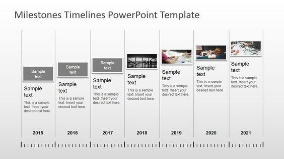 Milestones Timeline PowerPoint Template Professional - product comparison template word
