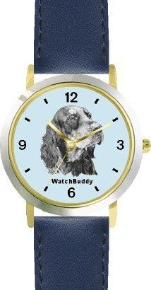 Gordon Setter (SC) Dog - WATCHBUDDY® DESIGNER DELUXE TWO-TONE THEME WATCH - Arabic Numbers-AQUA MARINE STYLE - Pale Blue Dial with Blue Leather Strap-Children's Size-Small ( Boy's Size & Girl's Size ) WatchBuddy. $49.95