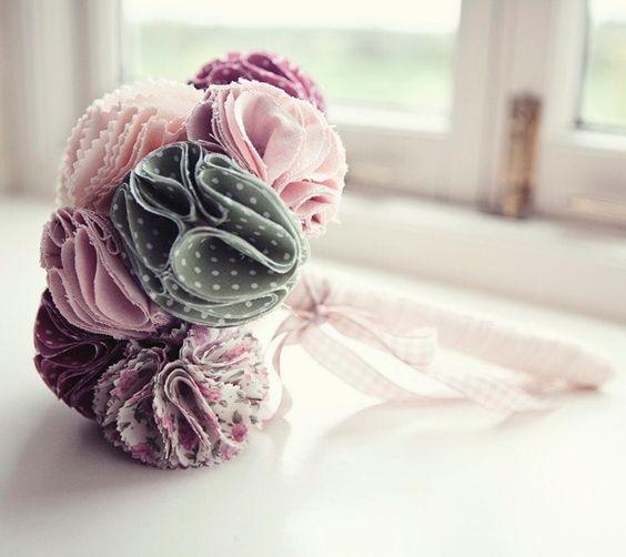 Fabric Bridal Bouquet. $190.00, via Etsy.