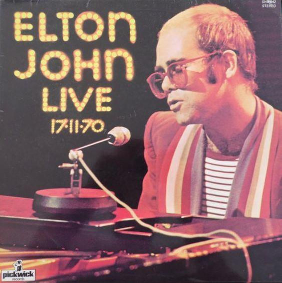Elton John Live 17 11 70 1977 Uk Issue Lp 33 Rpm Album Vinyl Record Pop Rock 70s Piano Rocket Man Shm942 Elton John Elton John Live Vinyl Record Shop