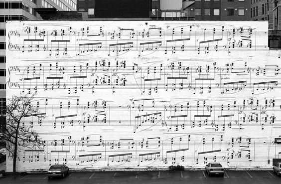 Ubiquity Records Music wall at Schmitt Music Mural, Minneapolis...
