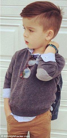 the adorable fouryearold 'style hacker'  boys baby boy