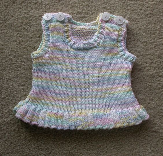 Free Knitting Pattern For Toddlers Tank Top : Free Knitting Pattern - Baby Sweaters: Knit Peplum Tank Top Knitting Pint...