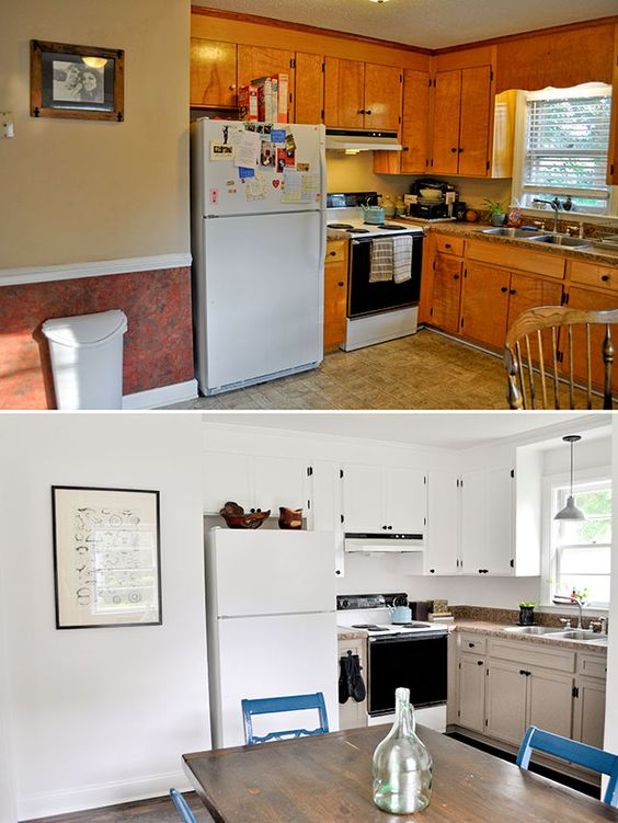 I Just Wanted To Pop In With The Final Before After Post For Our Kitchen Renovation And Put An End The Saga We Wanted To Update The Kitchen As Much As