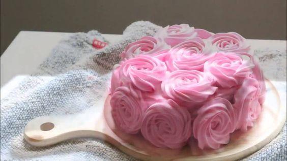strawberry shortcake Rose cake