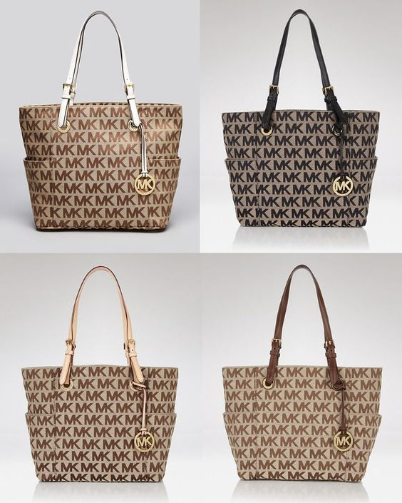 41e0c2a0943c michael kors jet set monogram signature logo tote metallic nickel tote