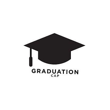 قالب تصميم جرافيك التخرج Graduation Hat Graduation Cap Graduation Logo